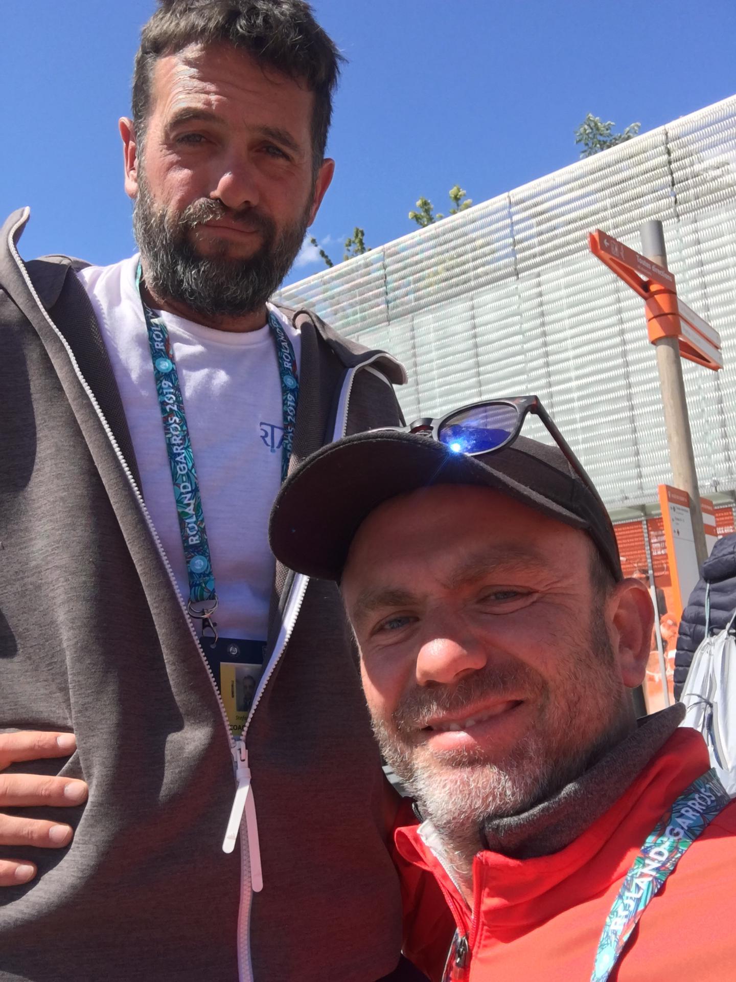 Mein Swisstennis Trainer P. Wallbank.