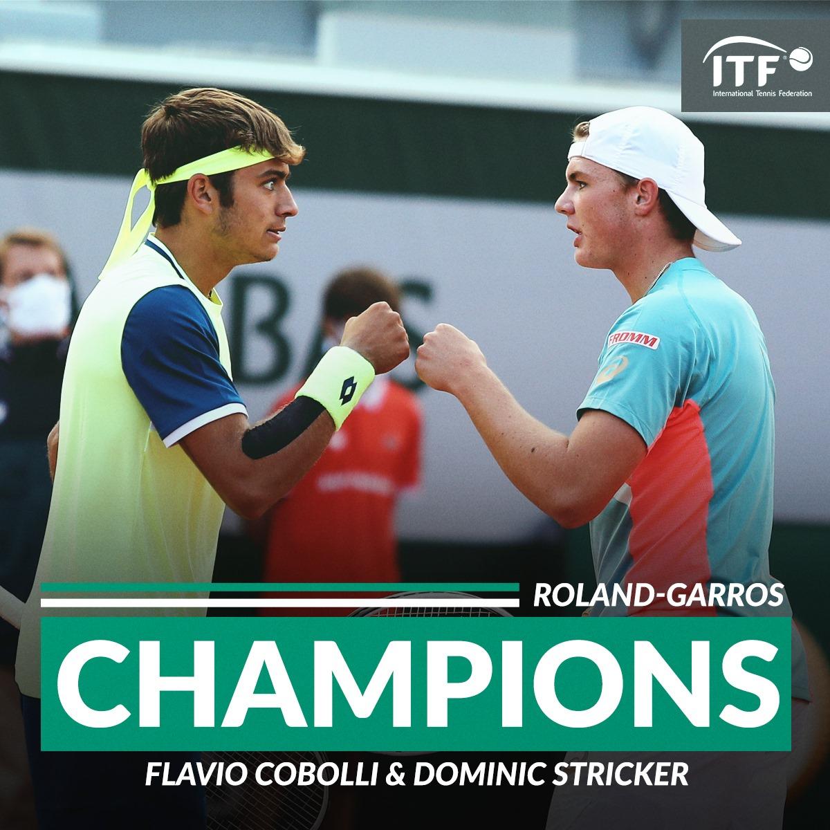 Champions im Doppel mit F. Cobolli
