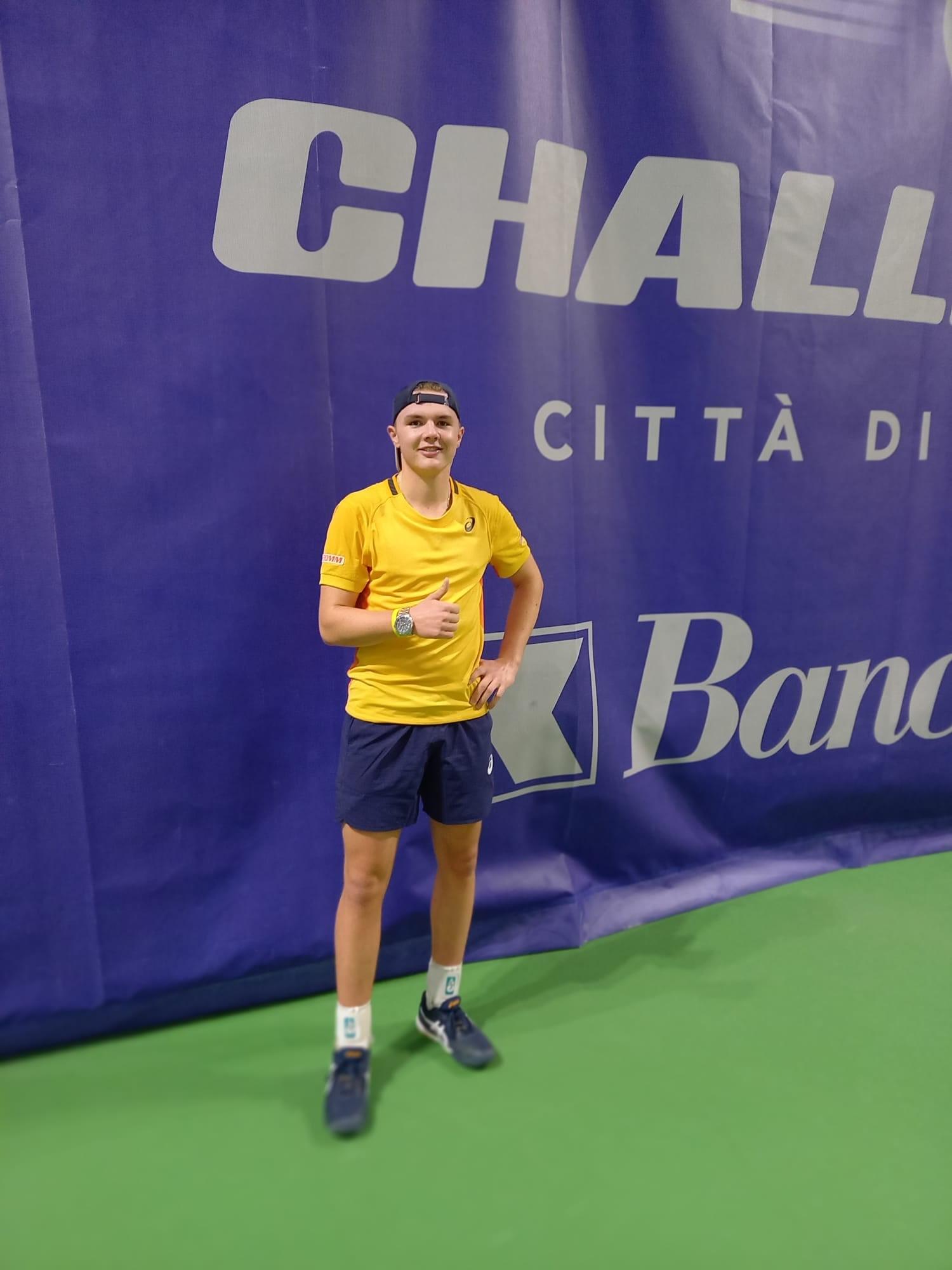Geschafft. Erstes Viertelfinale an einem Challenger Turnier.