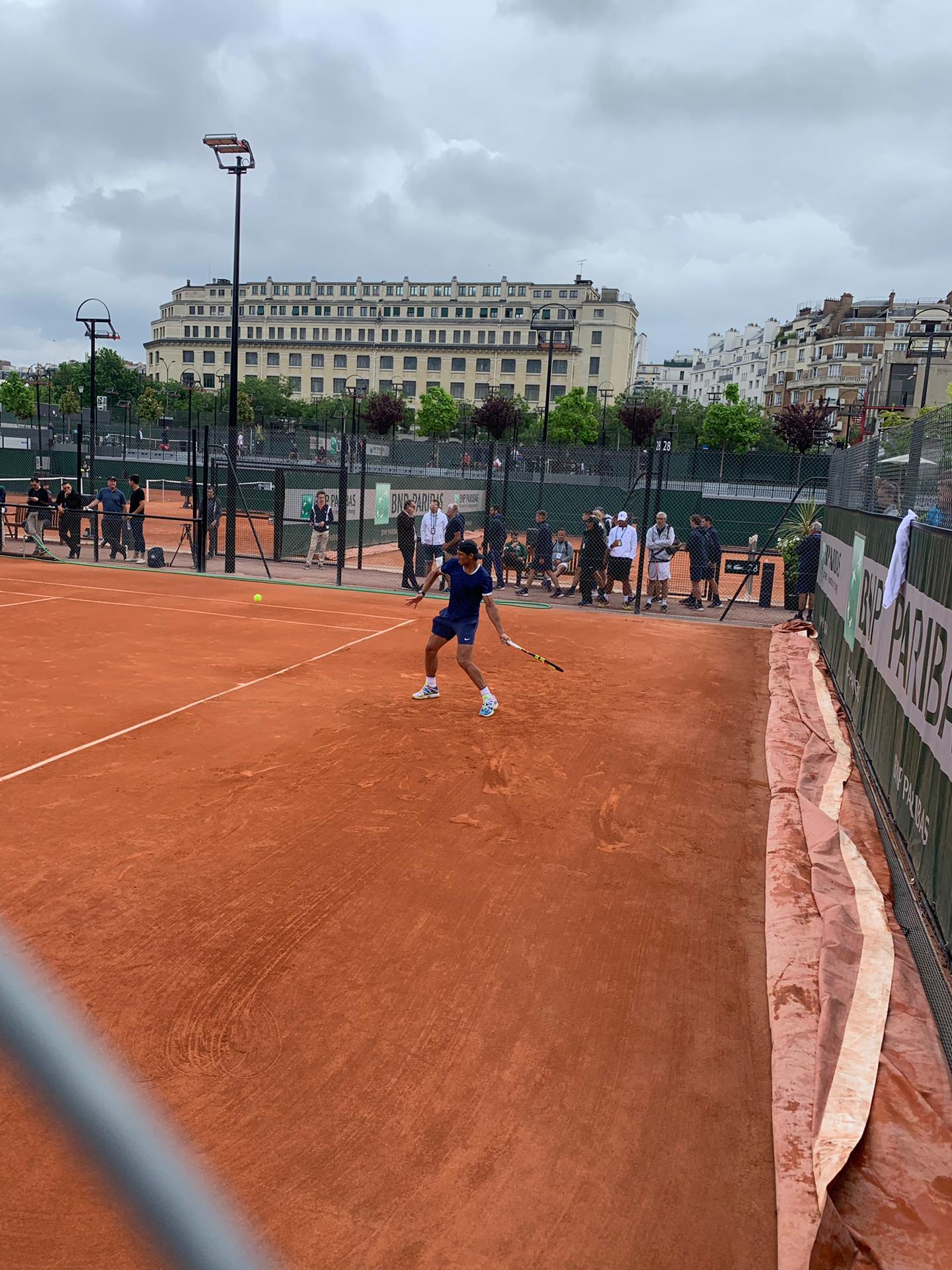 Live beim Training von Nadal.