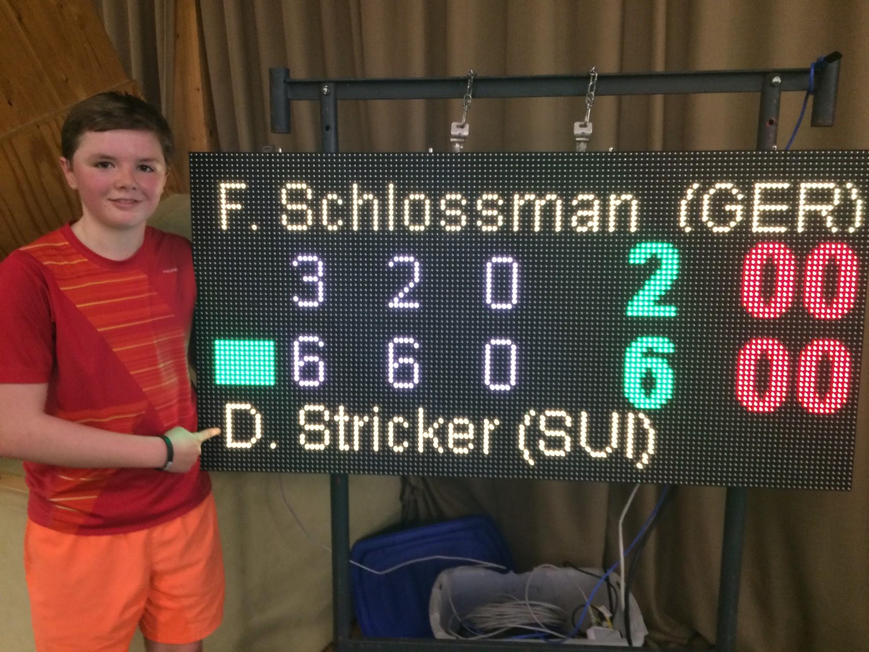 Souveräner Halbfinalsieg gegen die Nr. 4 des Turniers.