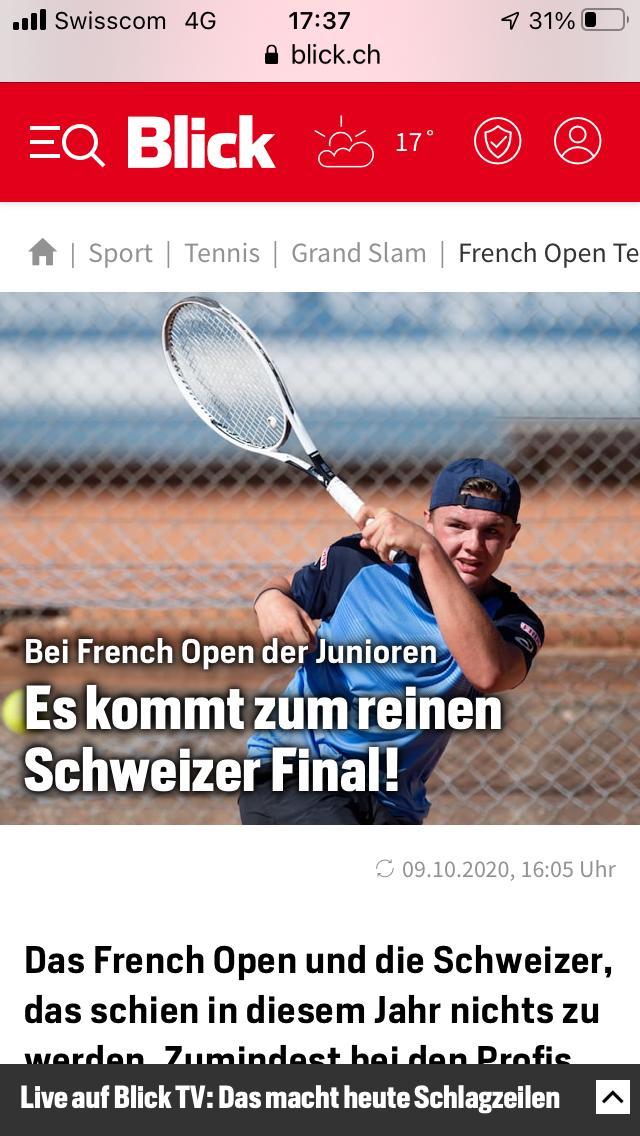 Schweizer Finale ist Tatsache, Weltweite Presse