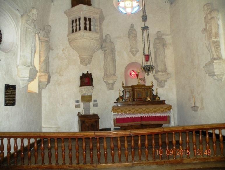 Château de Montréal: l'intérieur de la chapelle