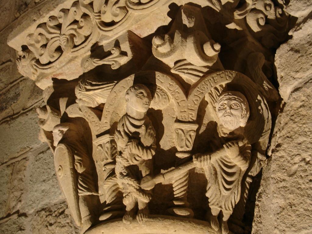 Hagetmau : Saint Pierre libéré par l'ange dans la crypte de Saint Girons