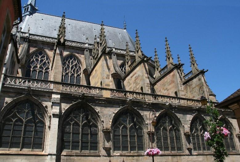 Moulins: la cathédrale (partie Est du 15è siècle)