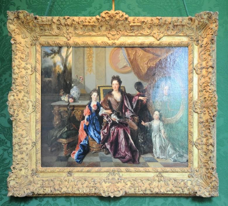 """Le château de Parentignat: """"La marquise de Noailles et ses enfants"""", par le peintre Nicolas de Larguillierre"""