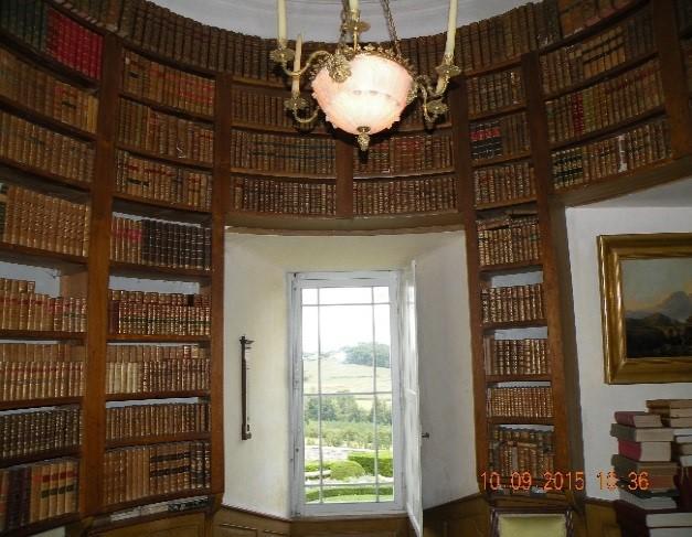 Château de Montréal:  la bibliothèque