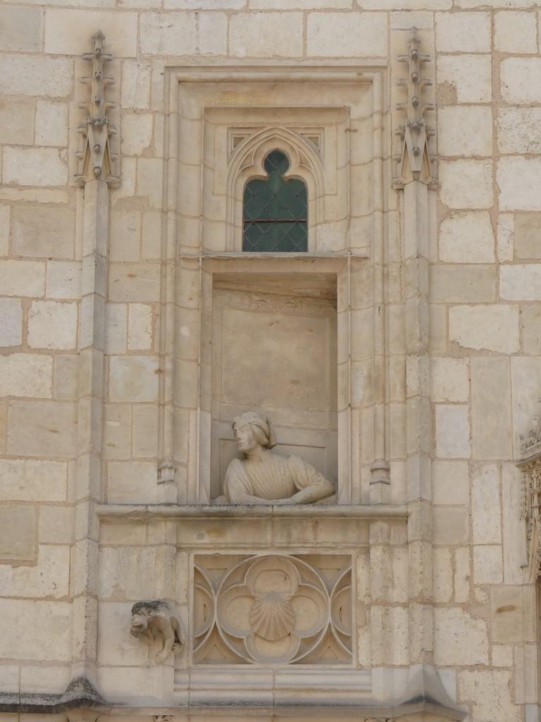 Bourges, maison de J. Coeur : Jacques Coeur à sa fenêtre