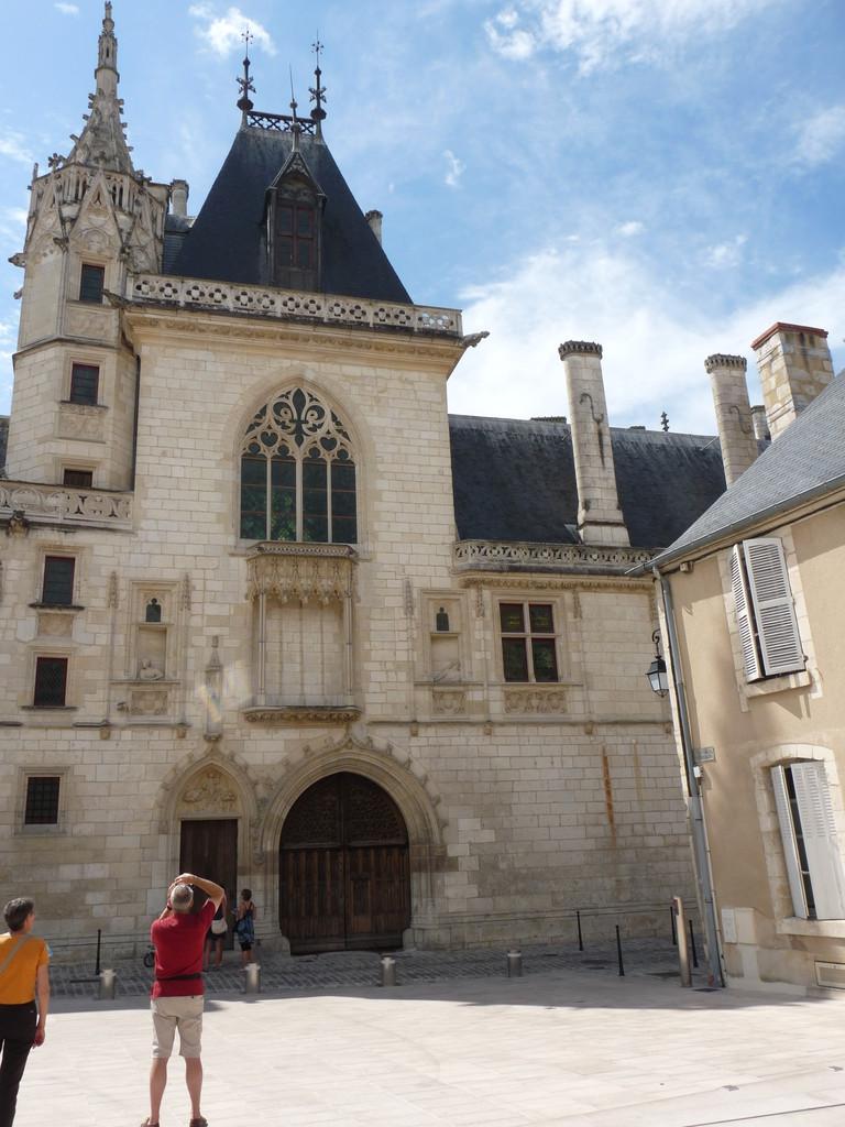 """Bourges : la """"grand maison"""" de Jacques Coeur, façade avant"""