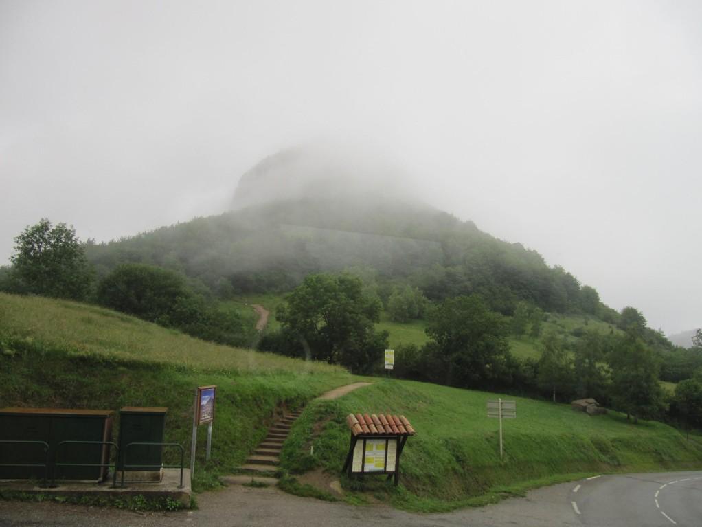 Montsegur : le château dans la brume