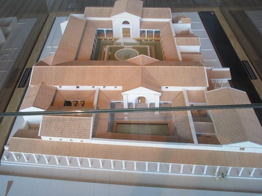 Périgueux, le musée Vesunna: la maquette de la domus au milieu du 2è siècle