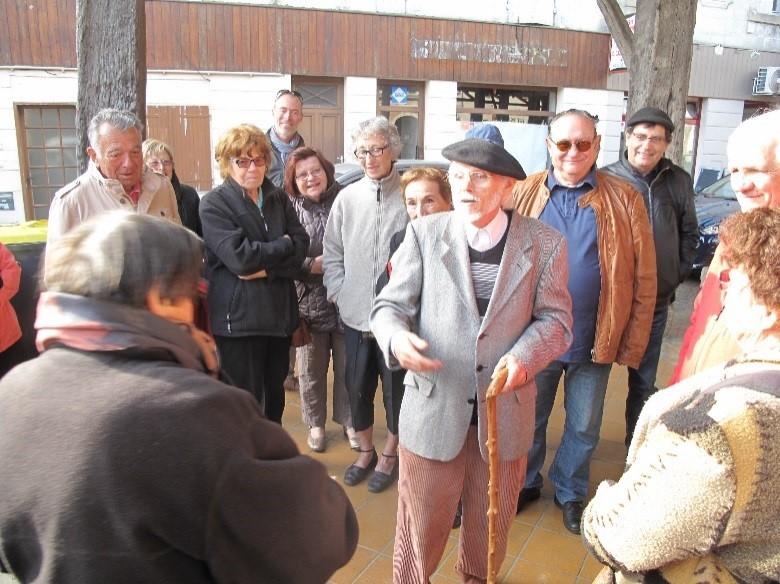 Le Mas d'Agenais: raconteur de pays et Pastourais sous la halle
