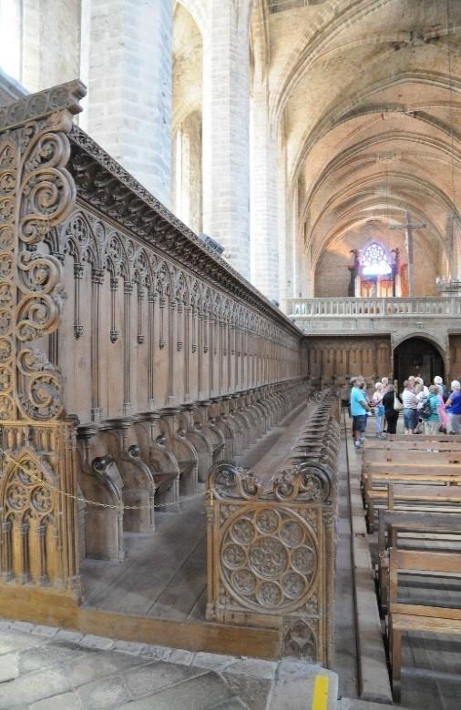 La Chaise-Dieu: les stalles dans le chœur de l'abbatiale