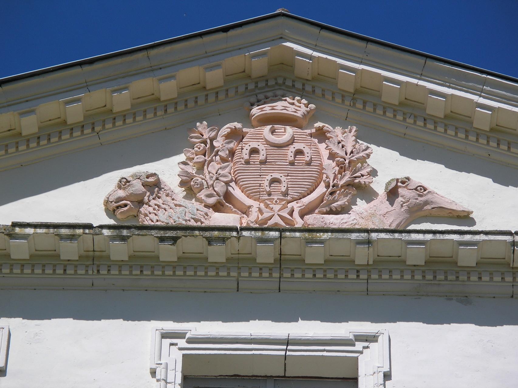 Villeneuve-sur-Lot : le château de Saint-Sulpice (armes des De Laborie)