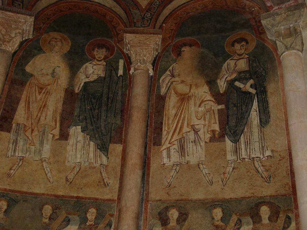 Saint Lizier : fresques du Maître de Pedret dans le choeur de la cathédrale Saint Lizier