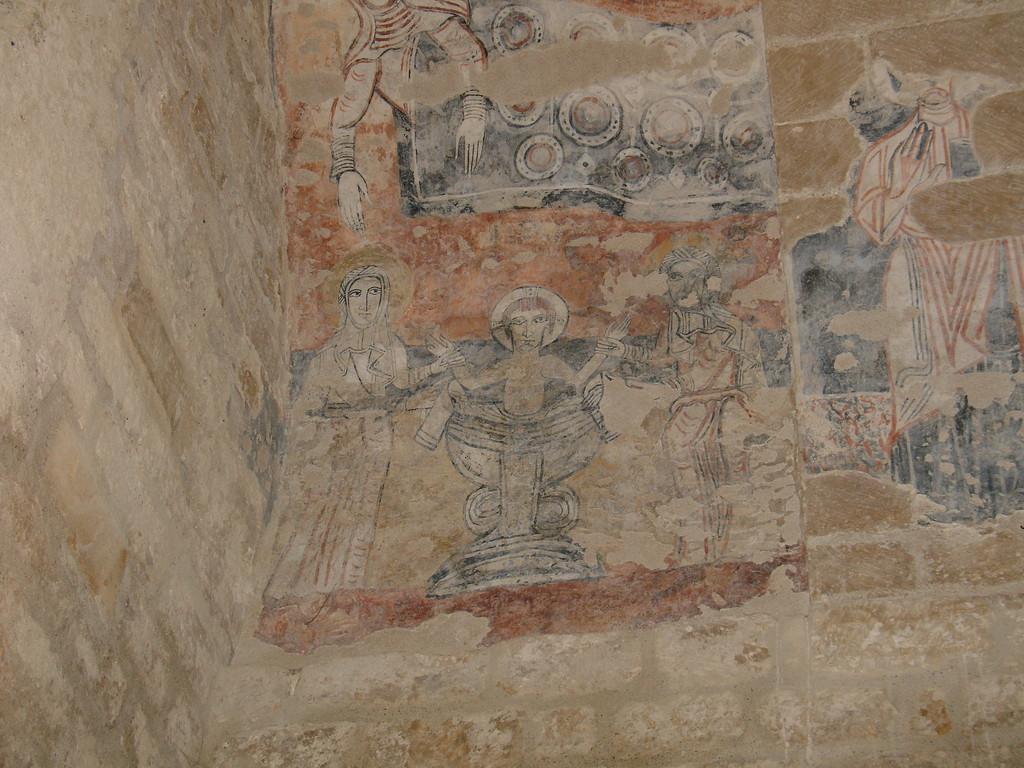 Valls : fresque du Maître de Pedret représentant la Nativité