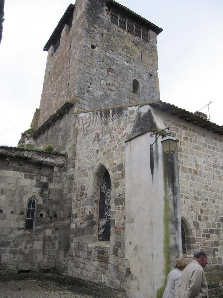 Clairac : clocher de l'abbatiale