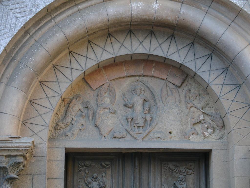 Saint Sever : détail du tympan de l'abbatiale