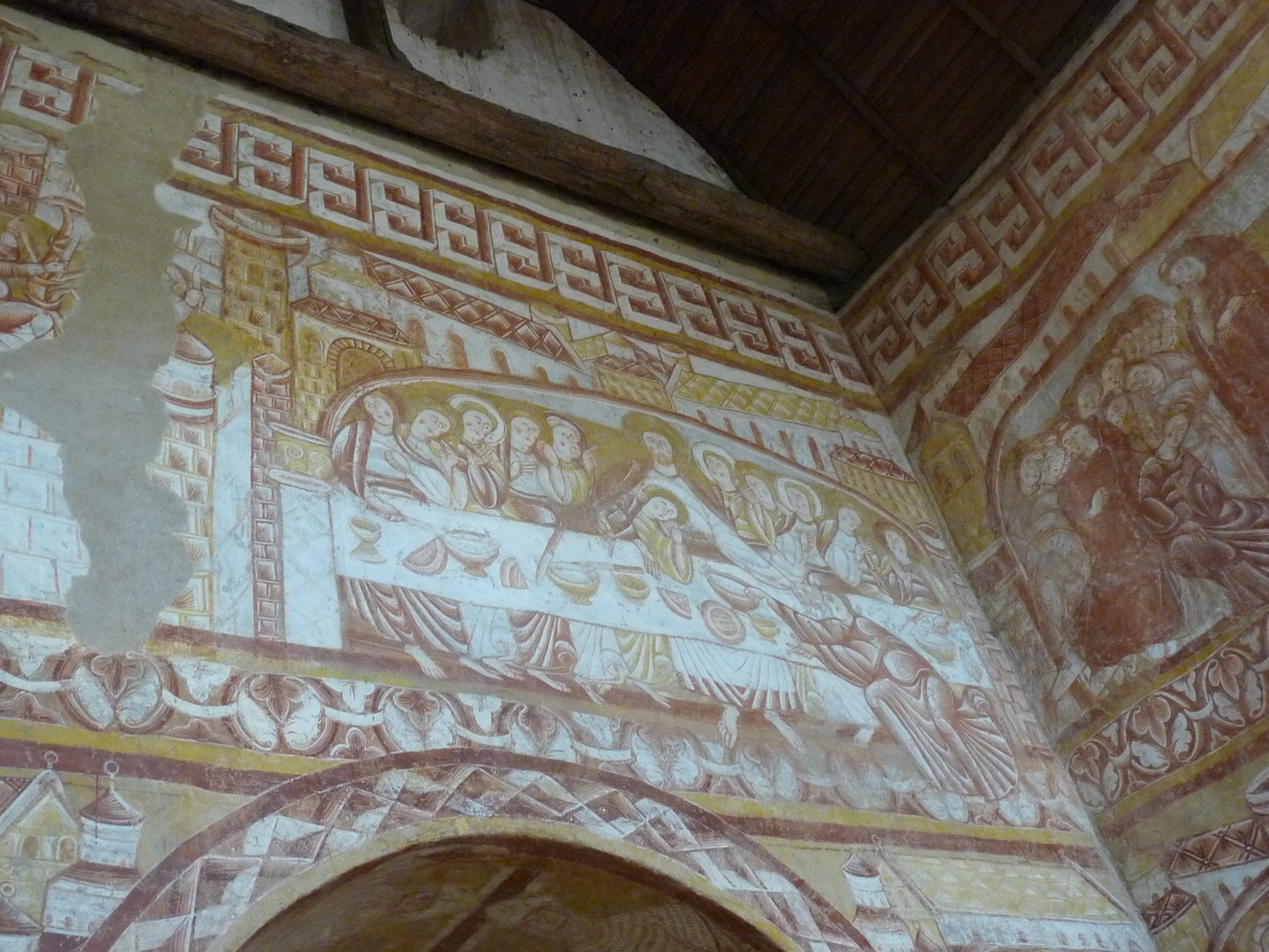 Vic, fresques de l'église : la Cène