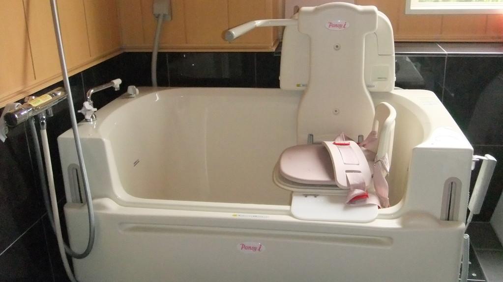機能的な機械浴で快適入浴