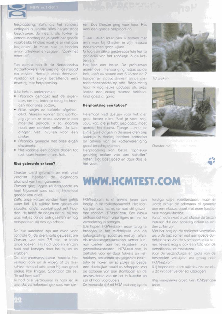 Artikel geschreven en gepubliceerd in NKFV