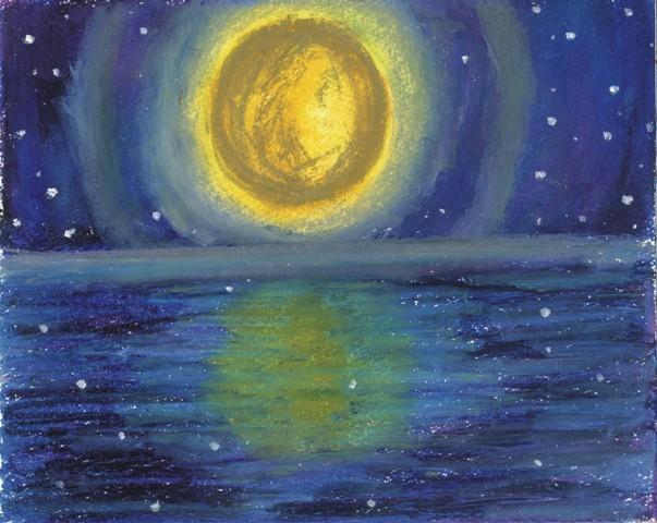 [18]  まんまるなお月さまが、りんりん輝くとき