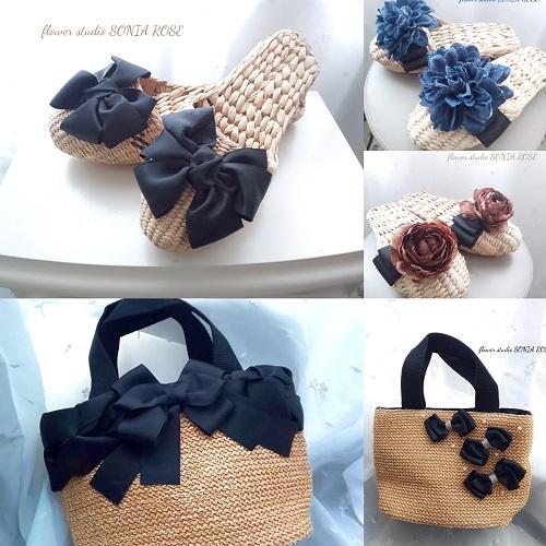 縫わないリボン認定講師  flower studio SONIA ROSE 作品