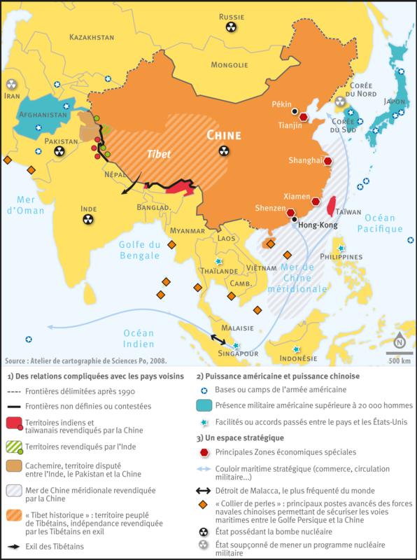 Carte Chine Collier De Perles.La Chine Et Le Monde Depuis 1949 Classes De M Orjebin