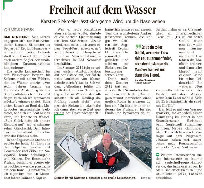 Schaumburger Nachrichten, 1. Februar 2018