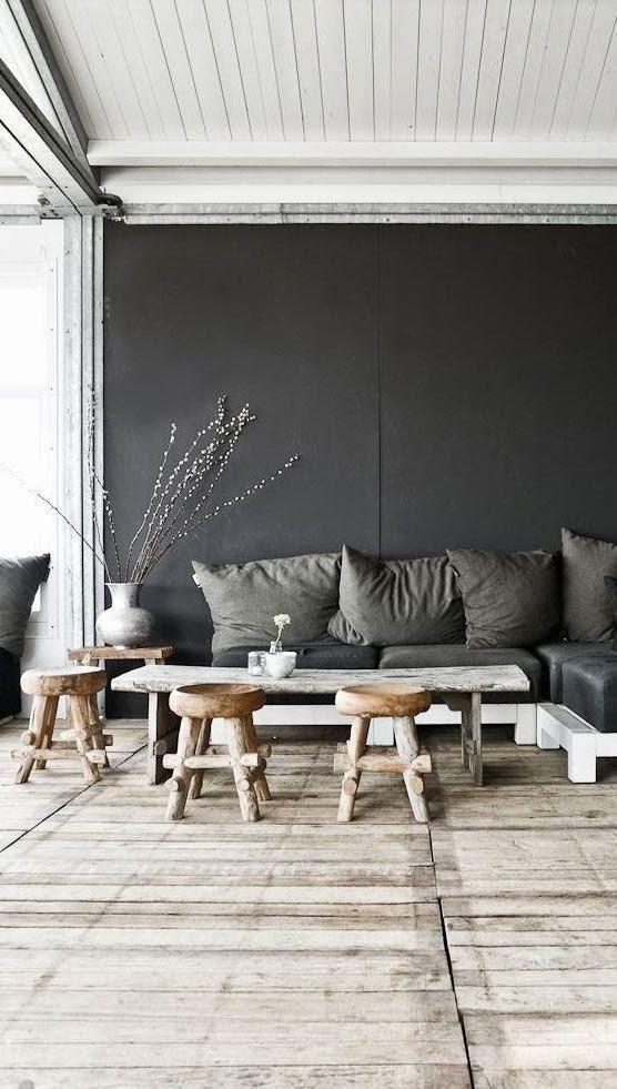 Monochrome Interiors - PASiNGA; image via Lascositasdebeacheau.blogspot