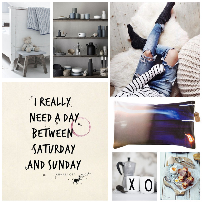moodboard collection with grey blue design and a big weekend wish by PASiNGA