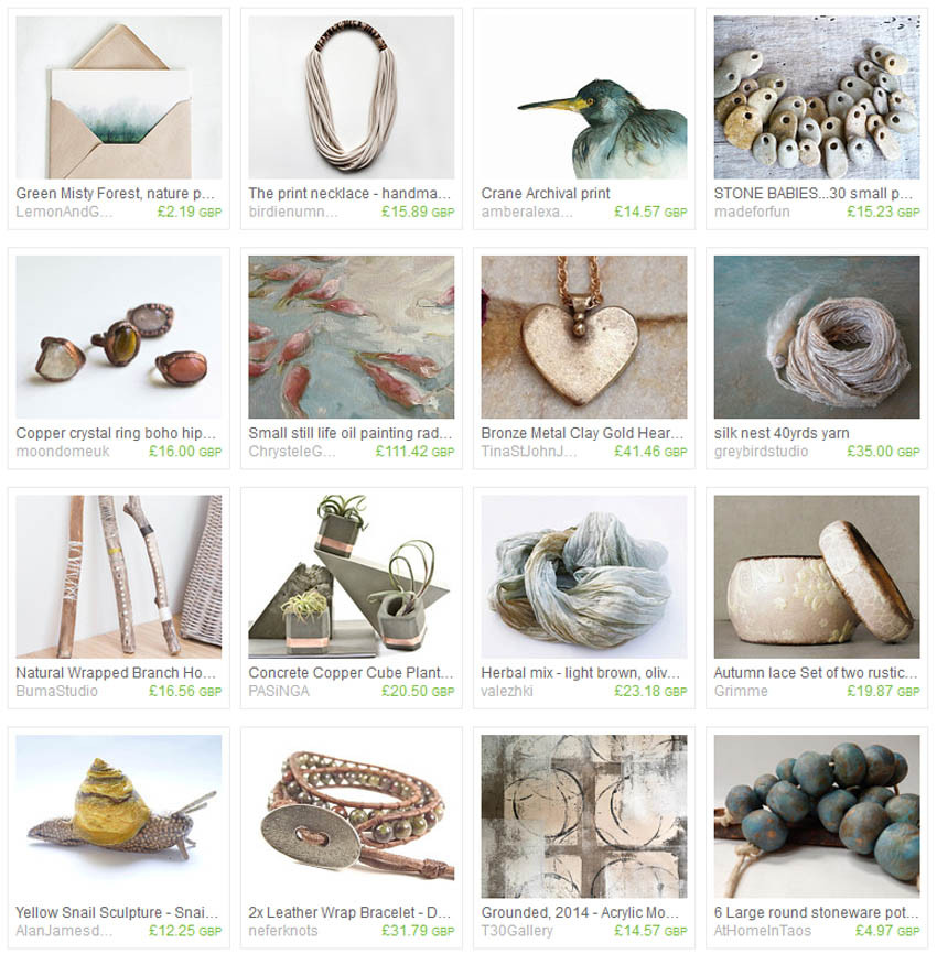 Natural Selection, Etsy Treasury Collection