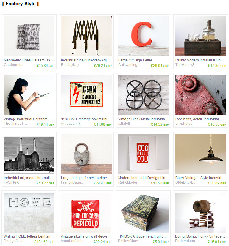 PASiNGA etsy treasury called factory style by Melanie on Etsy featuring PASiNGA photo art and other lovely industrial items