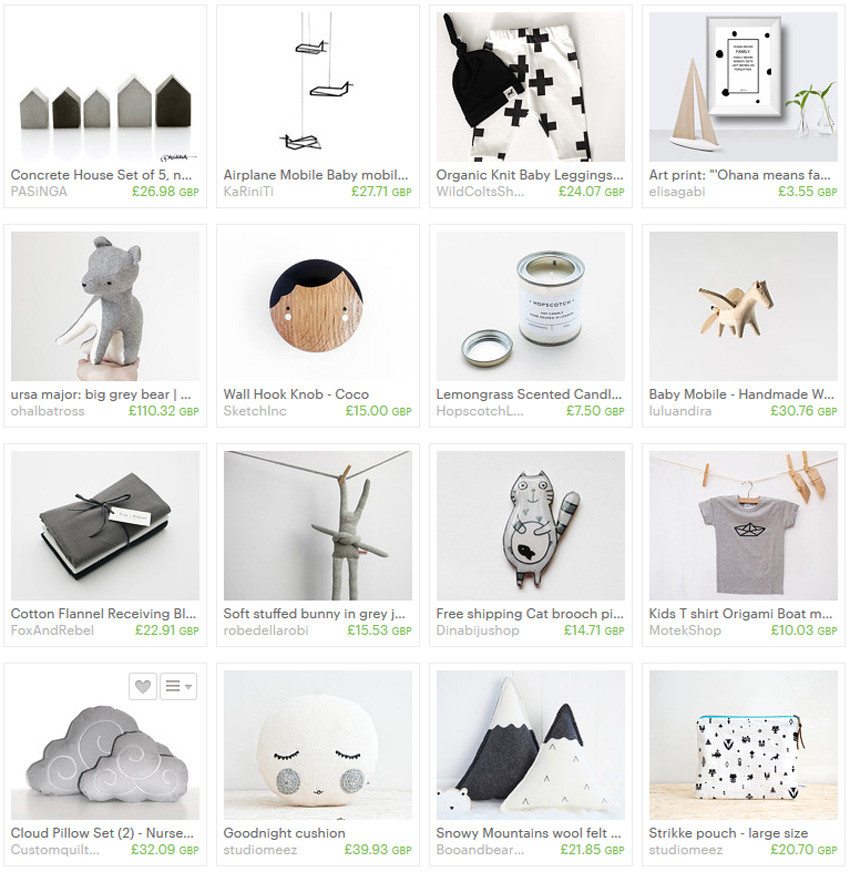 Etsy Treasury Collection 'Scandinavian Nursery'