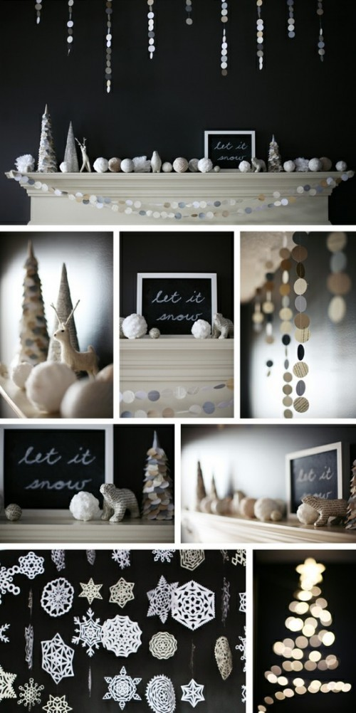 Winter Garlands decor DIY
