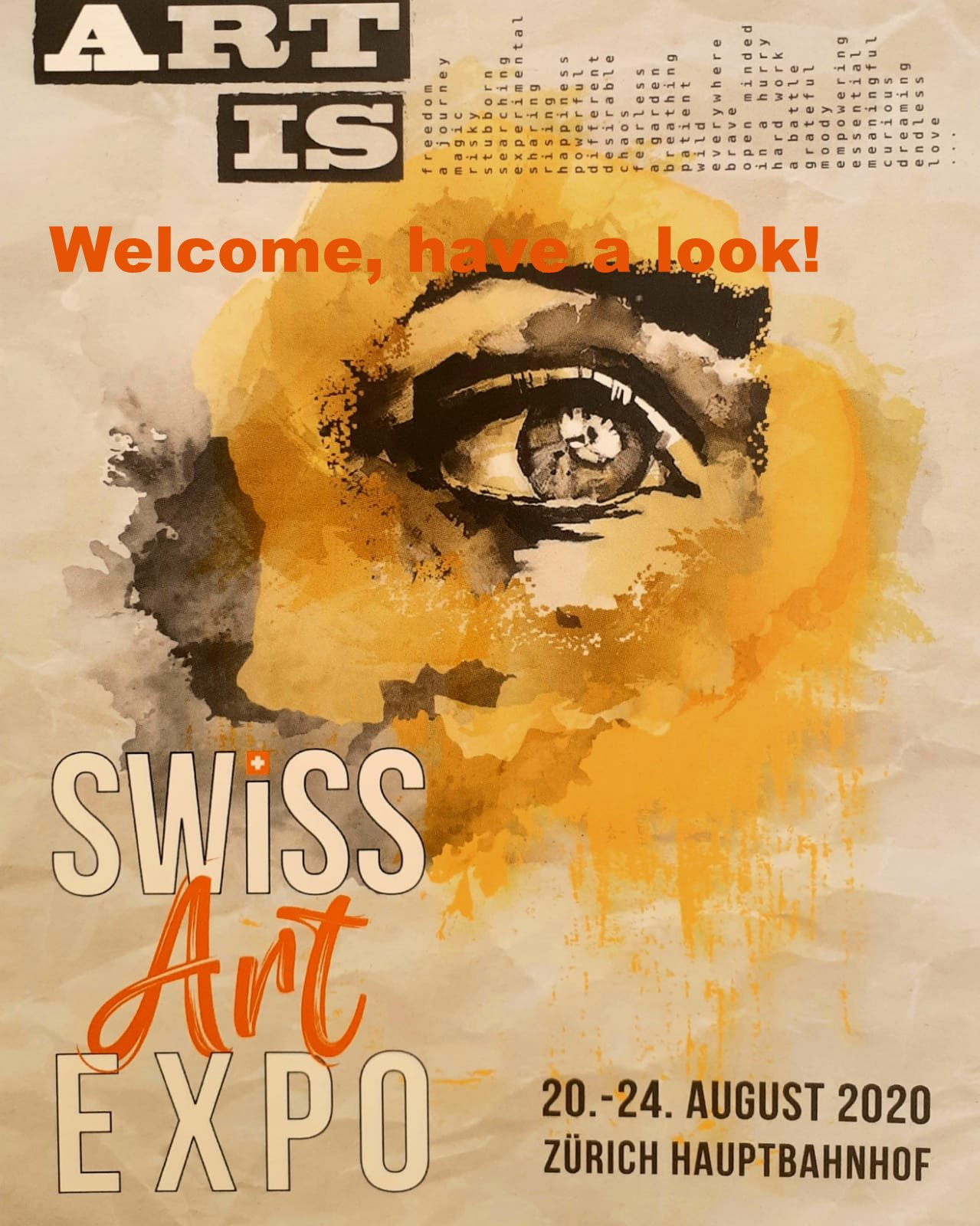 Ofizielles Plakat der Swiss Art Expo 2020
