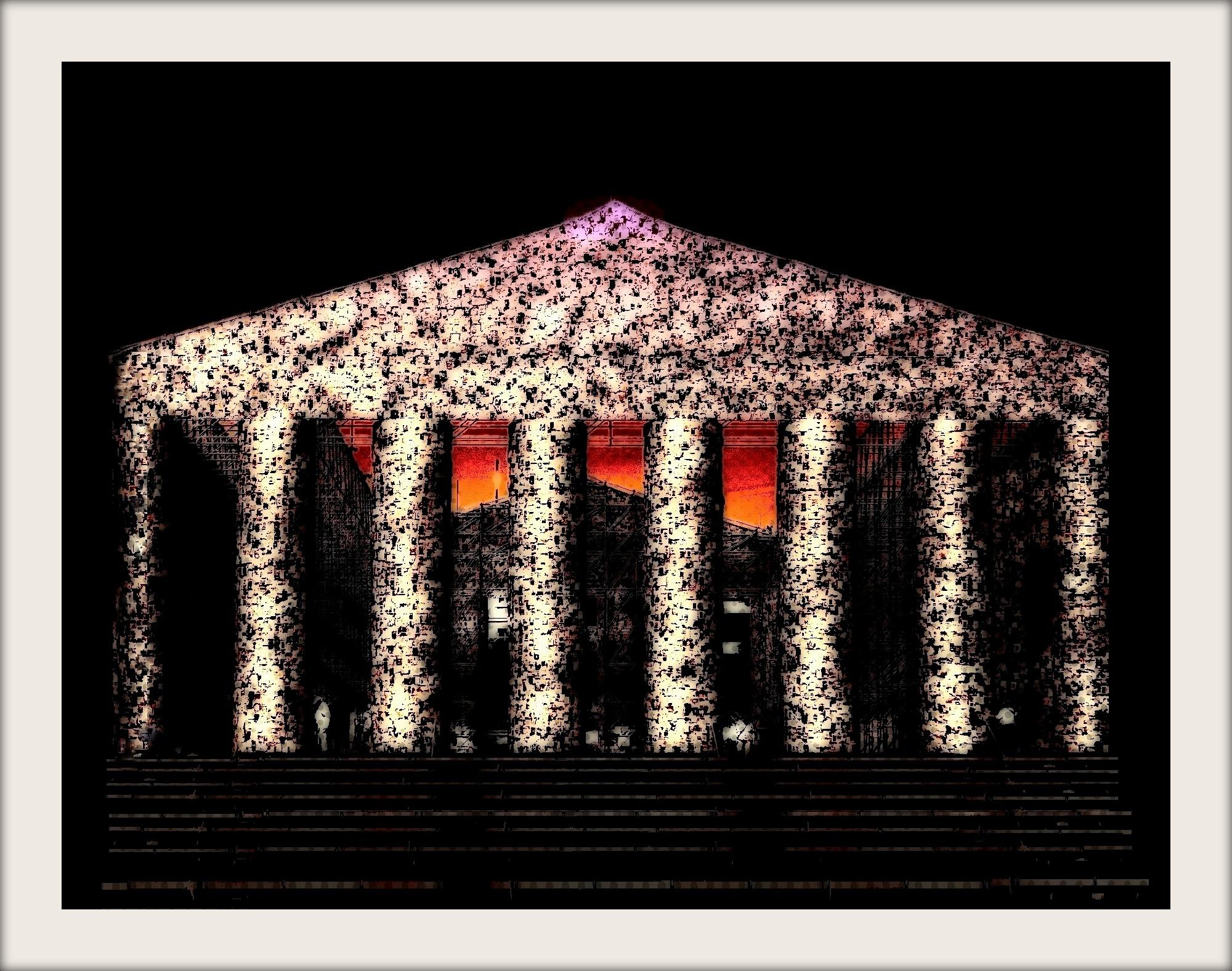 Parthenon der verbotenen Bücher, digitale Bearbeitung eines eigenen Fotos der documenta XIV