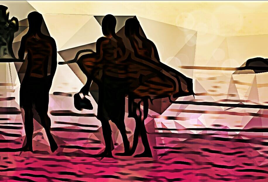 Surfin Guanacaste II, digitale Bearbeitung eigenen Fotos