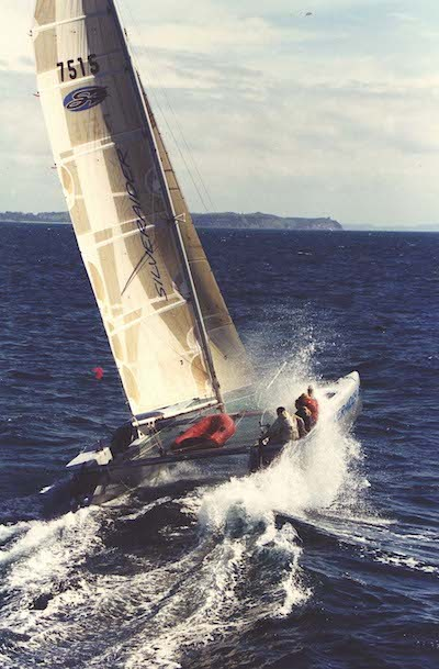 Catamaran SilverRaider in the Coastal Classic, New Zealand