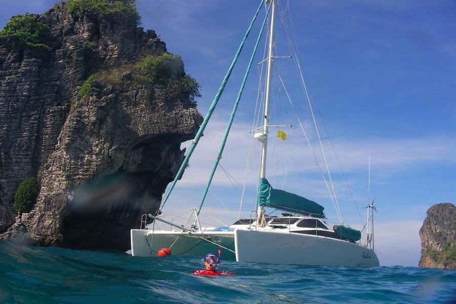 Cruising Catamaran Freebird in the Similan Islands