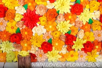 www.lovelyflowers.de - Dein Spezialist für knallige PAPER-ART-Blumen Partydeko!