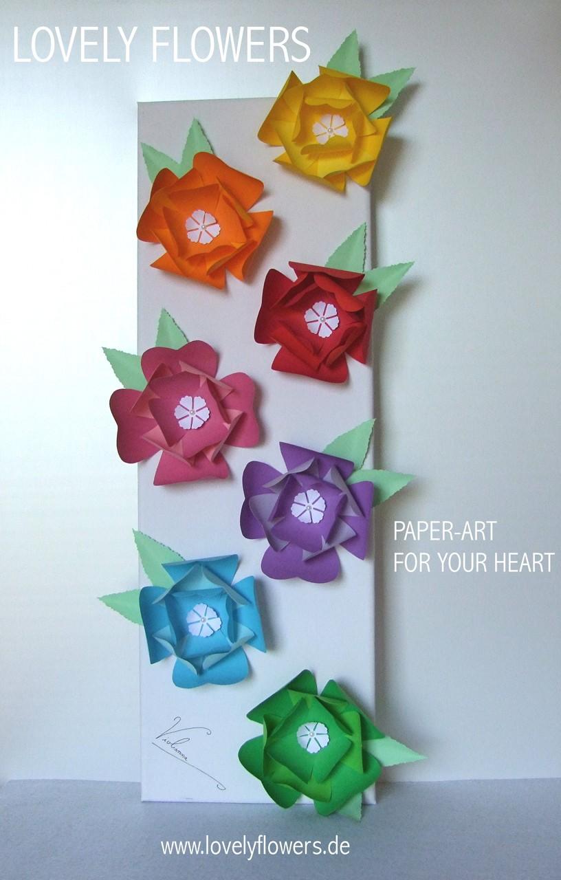 www.lovelyflowers.de - Dein Spezialist für dekorative PAPER-ART Blumenbilder nach Feng Shui!