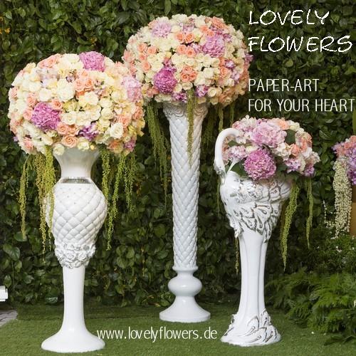 www.lovelyflowers.de - Dein Spezialist für PAPER-ART-Blumen Eventdeko!
