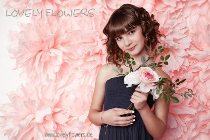 www.lovelyflowers.de - Dein Spezialist für PAPER-ART Fotostudioblumenhintergründe!