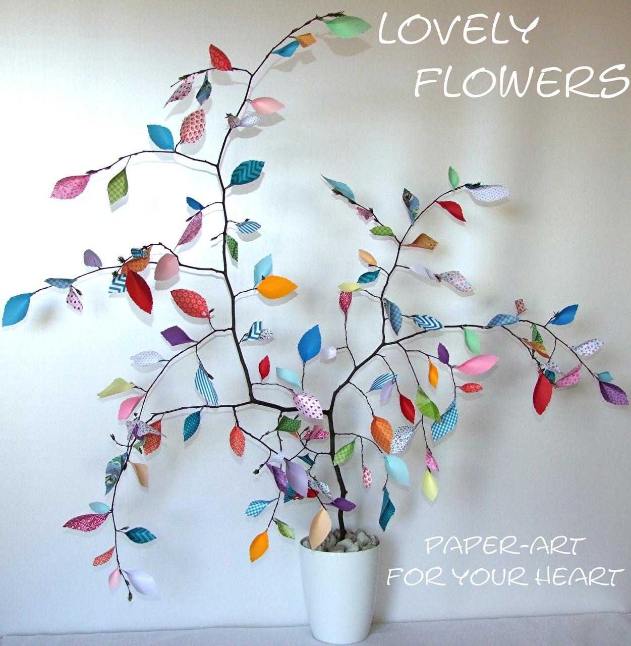 www.lovelyflowers.de - Dein Spezialist für PAPER-ART Gute Laune-Dekorationen!