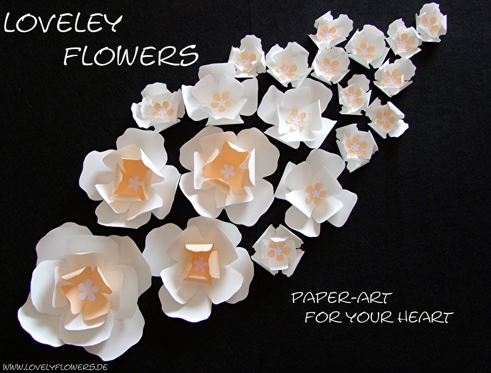 www.lovelyflowers.de - Dein Spezialist für PAPER-ART-Blumen Wandtattoos in 3D!