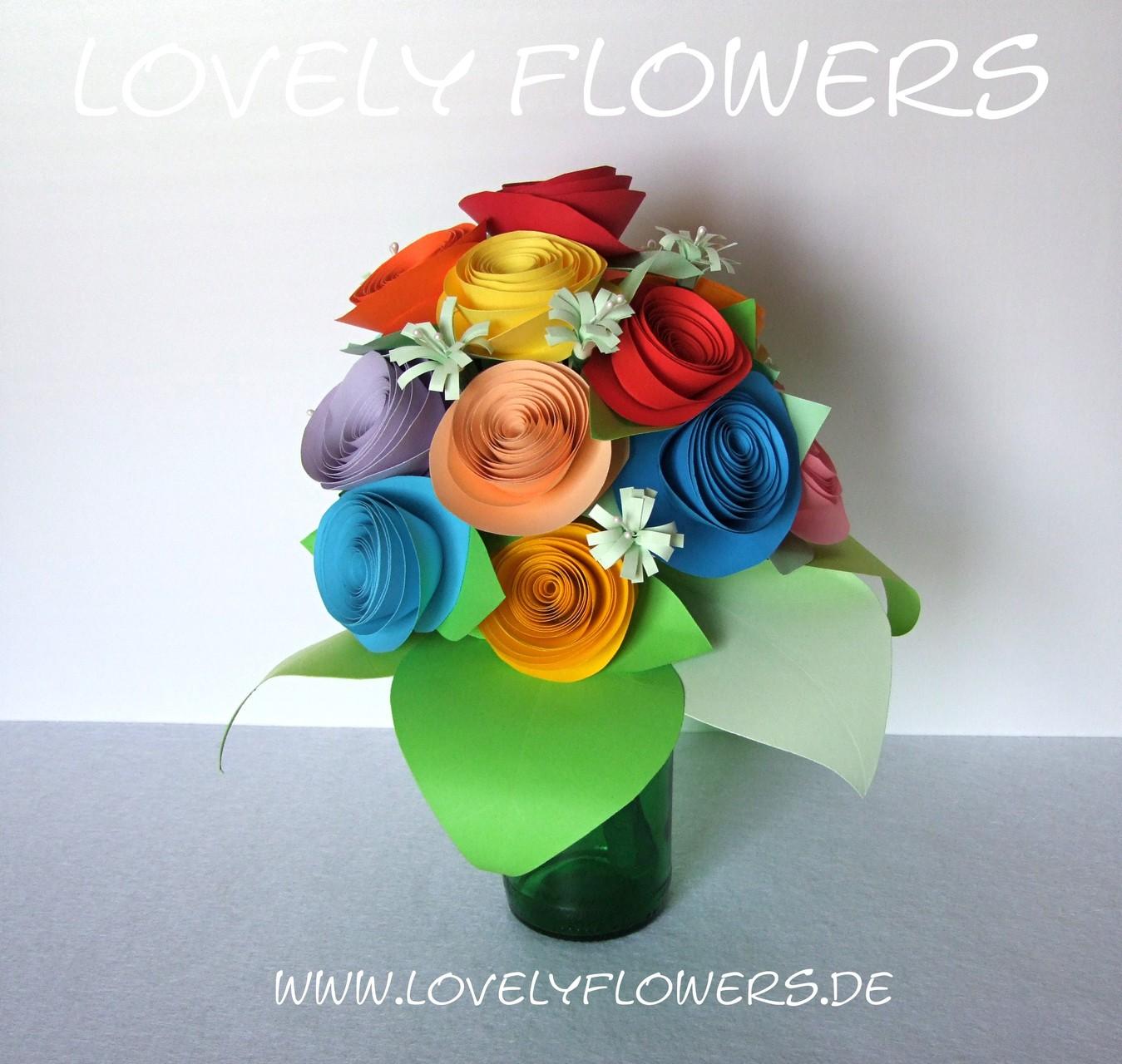 www.lovelyflowers.de - Dein Spezialist für PAPER-ART Blumenbouquets nach Feng Shui!
