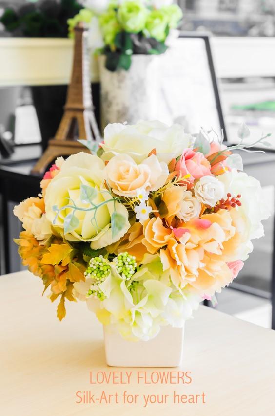 www.lovelyflowers.de - Dein Spezialist für dekorative Seidenblumensträuße