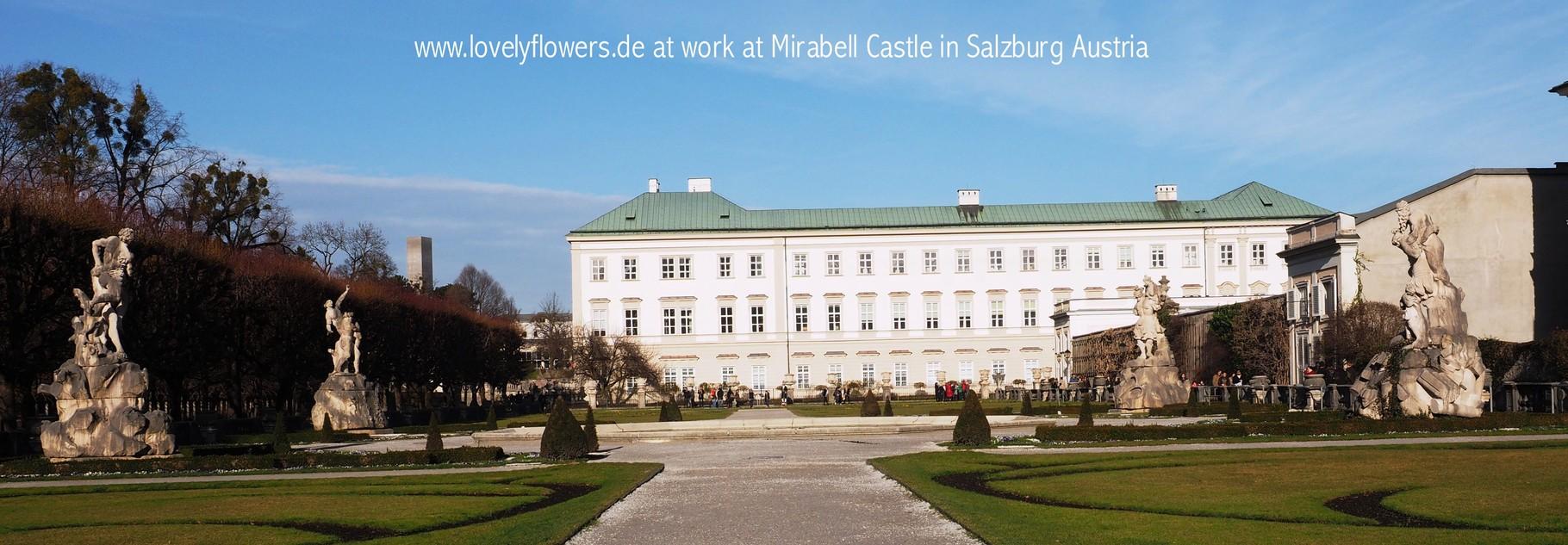Paper-Art Brautstraußarbeiten durch www.lovelyflowers.de für eine wundervolle Winterhochzeit-Trauung im Schloss  Mirabell/Salzburg/Österreich