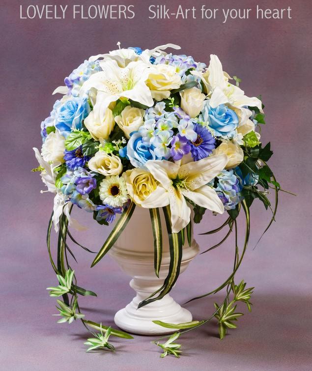 www.lovelyflowers.de - Dein Spezialist für Eyecatcher Seidenblumenbouquets